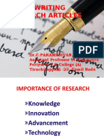 Art of Writing Research Articles