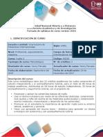 Syllabus del curso Inglés 0- 1601