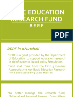 BASIC EDUCATION RESEARCH FUND