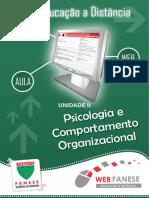 PSICOLOGIA E COMPORTAMENTO ORGANIZACIONAL - unidade II
