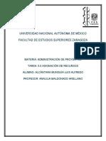 5.5 ASIGNACIÓN DE RECURSOS