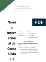 nic 1 contabilidad II yraimar manosalva