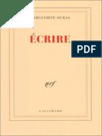 Marguerite Duras - Ecrire- Jericho