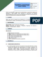 PR-GO-S-041 Mantenimiento y ajuste mecanico de válvulas de seguridad y alivio (gases y liquidos)