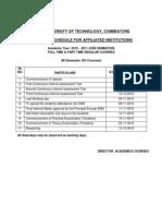 Revised III Sem UG Schedule