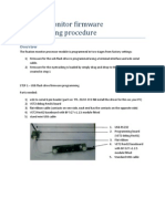 Fixation Monitor Firmware Programming Procedure