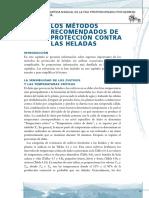 METODOS DE RECOMENDADOS DE PROTECCION CONTRA LAS HELADAS