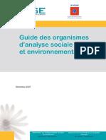 guide des organisations d'analyse sociale  et environnementale