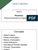 General Linguistics - Week 2 Lecture