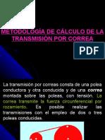 Cálculo Transmisión por Correa