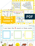 printable the letter s
