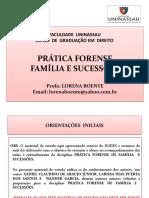 PRÁTICA FORENSE DE FAMÍLIA  E  SUCESSÕES.pptx