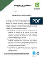 COMUNICADO DE FECHA 17 DE ABRIL DE 2020