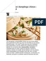 Cómo hacer dumplings chinos