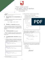 Opcional diseño de algoritmos univalle