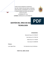Gestión del Área de Equipos y Tecnología - Ensayo