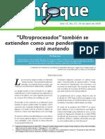 Boletin electronico ENFOQUE Análisis de situación No. 69 Ultraprocesados también se extienden como una pandemia que nos está matando.pdf