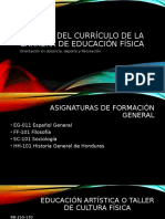 Análisis del Currículo de la Carrera de Educación