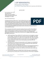 Walz Pence Letter