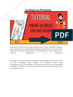 Tutorial pintar un dibujo con Photoshop
