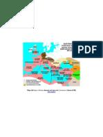 Mapa del Imperio Romano durante en la época de Constantino I