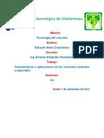 caracterisiticas y aplicaciones del concreto normal y especiales