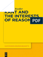 (Kantstudien-Ergänzungshefte 182) Sebastian Raedler - Kant and the Interests of Reason-Walter de Gruyter (2015)
