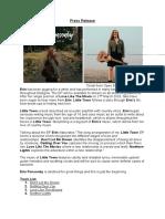 press release  erin ponsonby - little town