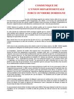 Communique FO Dordogne