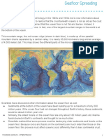 sea floor spreading reading