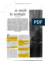 Pascal Acot Como nacio la Ecologia