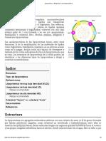 Lipoproteína - Wikipedia, la enciclopedia libre