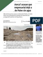 A02 - ¿El nuevo Petorca? acusan que usurpación empresarial dejó a localidades de Paine sin agua | Publimetro Chile