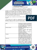 """Actividad de aprendizaje 14 Evidencia 8- Cuadro de comportamiento """"Evaluación del canal"""" lista"""