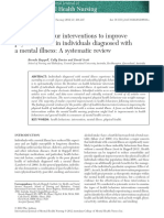 Health behaviour interventions to improve physical health in individuals diagnosed with a mental illness- a systematic review.