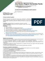 estrategias de apoyo de aprendizajes  covid-19 edu.fisica7