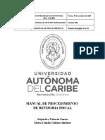 Manual de procedimiento de Resoria Fiscal
