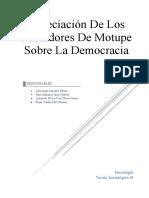 Apreciación De Los Pobladores De Motupe Sobre La Democracia en Perú