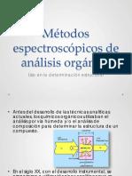 Métodos espectroscópicos de análisis orgánico