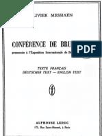 Messiaen O., Conférence de Bruxelles