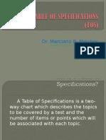 tableofspecifications2013