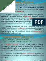 Perfil del Ing. Industrial e Incumbencias MECANICA Y MECANISMOS 2020