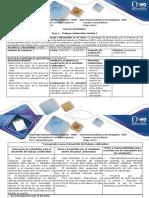 Guía de actividades y rúbrica de evaluación Paso 2 - desarrollar trabajo colaborativo Unidad 1