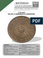 El Reverso No. 27 - Boletín Filatélico y Numismático