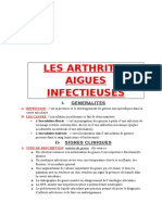 Les Arthrites Aigues Infectieuses