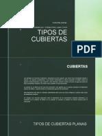 TIPOS DE CUBIERTAS