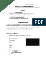 ESTRUCTURAS CONDICIONALES 2020-1