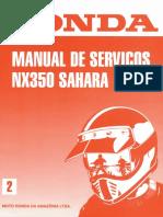 Honda NX 350 SAHARA Manual de Servicio