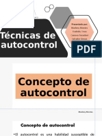 TECNICAS DE AUTOCONTROL EXP.