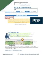FICHA DE ACTIVIDADES Nº4 COMUNICACIÓN 4TO
